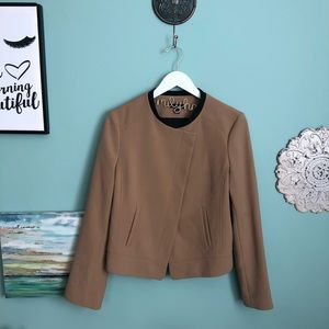 Ann Taylor Tan and Black Career Blazer 12 H2